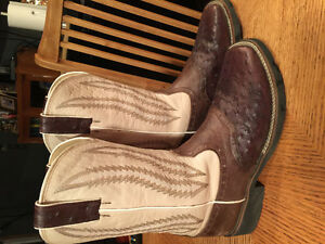 Two pairs women's cowboy boots