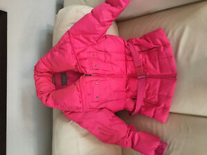 Bright pink down coat - rarely worn