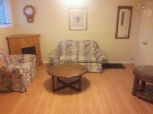 Bright, Clean, Furnished Basement Suite with Jacuzzi