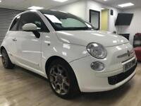 Fiat 500 1.4 SPORT WHITE AUTOMATIC GLASS ROOF LEATHER BLUETOOTH WARRANTY FSH