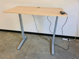 Standing desk with slight fault