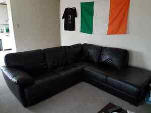 Leather Sectional Couch - 8' x 8'