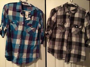 NWT button up plaid tops Windsor Region Ontario image 1