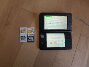 Nintendo 3DS XL and 4 Games
