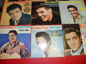 10 Elvis Singles 1957 to 1962 $100.  In unplayed condition. Prince George British Columbia image 3