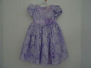 GIRLS DRESS..LAVENDER...LIKE NEW..ONLY WORN TWICE  LARGER SIZE 2
