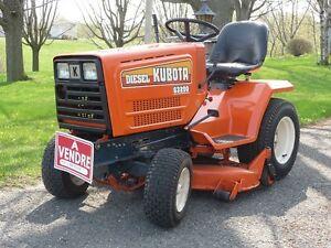 Tracteur Kubota de jardin et pelouse
