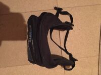 Oxford back pack and bum bag come visor carrier