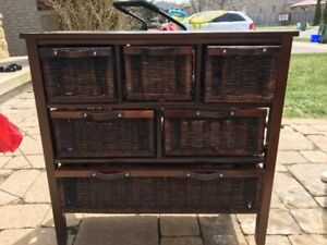 Wicker Chest Drawers
