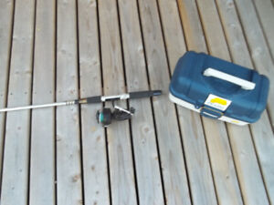 Garcia Mitchell Reel and Telescopic Rod withTackle Box