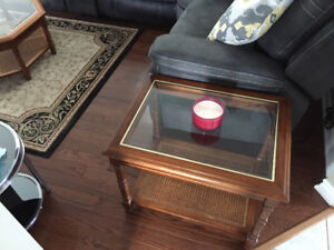 4 pice living room accent table set
