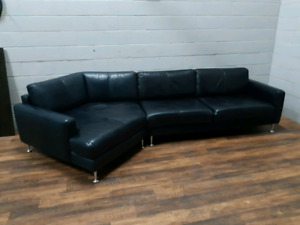 Free delivery: Full Leather Sectional Sofa