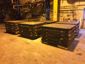 USED ACORN STYLE WELDING TABLE SECTIONS