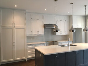 High-End Kitchen Cabinets and Large Patio Sliding Doors