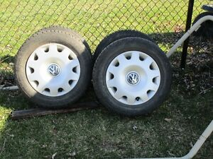 Volkswagon Rims snow tires and hubcaps