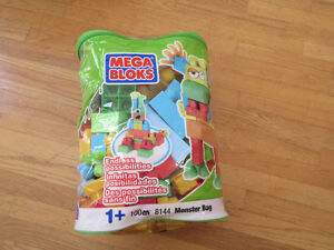100 Piece Monster bag of Mega Blocks Years 1 and up