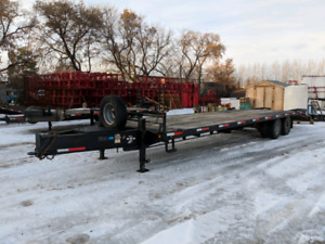 33' pintle trailer. Two 10,000Lbs axles