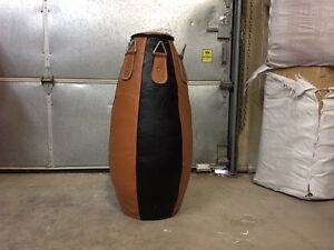 Leather teardrop heavy bag - new, never used