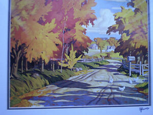 """Full Signature  A.J.Casson """"Country Road"""" Print Kitchener / Waterloo Kitchener Area image 9"""