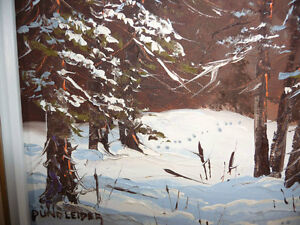 "Listed Artist,Heinz V. Pundleider ""Cross Country Trail"" Oil 1978 Stratford Kitchener Area image 10"