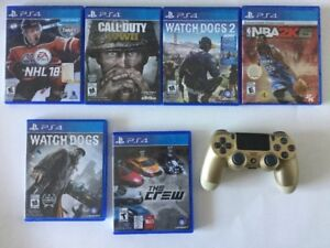 Manette Gold PS4 - NHL18 - Call of Duty WWII - Voir prix