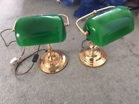 Pair of old library lamp