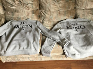 Matching king and queen sweaters