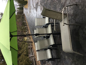 Chairs lounger umbrella