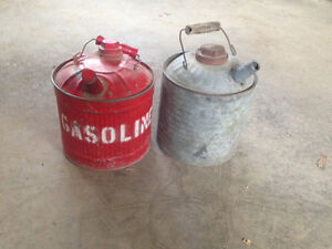 3 Vintage Gas Cans (PRICE REDUCED)