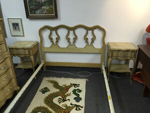 French Country Provincial Bedroom Set Dresser Night tables
