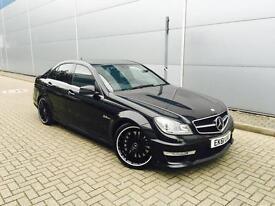 2011 61 reg Mercedes-Benz C63 AMG 6.3 7G-Tronic AMG Edition 125 BLACK on BLACK