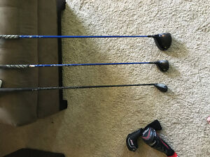 Titelist d13 driver and 3 wood ping 19* hybrid golf club