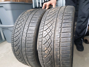 (2) Continental Extreme Contact  245 35-20 tires for sale