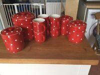 Baking Days China Red Polka Dot Storage jars & mugs by Spode