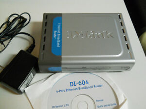 D-Link DI-604 wired router