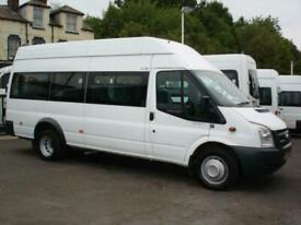 FORD TRANSIT 12 SEAT HIGH ROOF XLWB WHEELCHAIR ACCESSIBLE MINIBUS LOW MILES FFSH