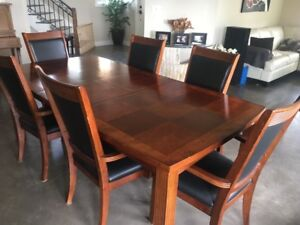 Solid Wood Dinning Set and Chairs