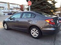 HONDA CIVIC 2012 LX lease takeover 260$ per month