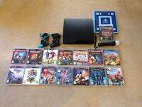 PS3 with 2 controllers and 15 games