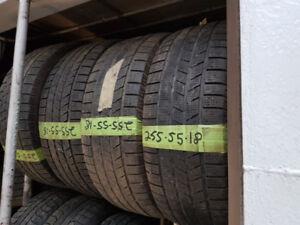 255-55-18 pneus d'hiver