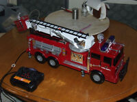 Dickie Toys Firetruck With Corded Remote - MINT CONDITION - $45
