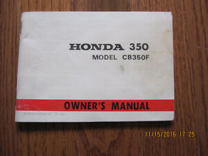 1973 Honda CB 350F Owners Manual