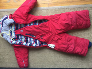 Red MEC Toaster Snowsuit Sz 2