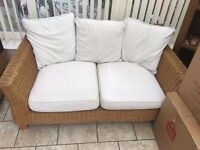 Wicker conservatory sofa