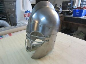 STAINLESS STEEL 16TH CENTURY REPRO.JOLSTING HELMET Peterborough Peterborough Area image 1