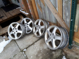 4 16 inch ALUMINUM RIMS FOR SALE............