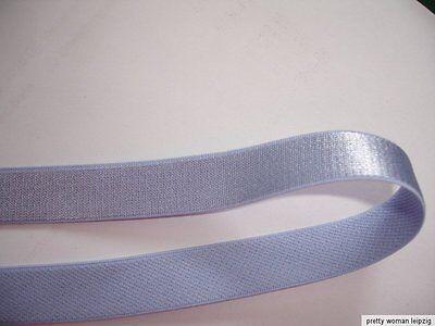 10m Gummiband 0,24€/m softblue Trägerband, 14mm breit  TA109