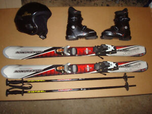 Kids Ski Package (Skis, Bindings, Boots, Helmet, Poles)