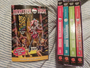 Monster High Books, excellent condition
