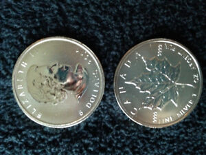 Silver Coins, one Roll of silver maples